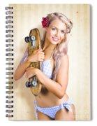 Fifties And Sixties Australian Surf Skate Culture Spiral Notebook