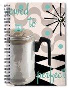 Fifties Kitchen Coffee Pot Perk Coffee Spiral Notebook