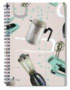 Fifties Pattern IIi Spiral Notebook