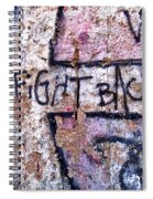 Fight Back - Berlin Wall Spiral Notebook