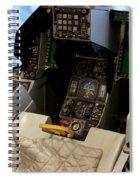 Fighter Jet Cockpit 01 Spiral Notebook
