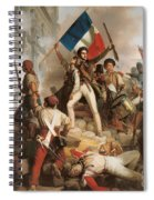 Fighting At The Hotel De Ville Spiral Notebook