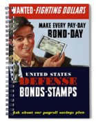 Fighting Dollars Wanted Spiral Notebook