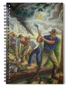 Fighting Forest Fire Spiral Notebook