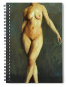 Figure In Motion 1913 Spiral Notebook