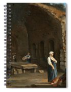 Figures At The Cave Of Egeria Spiral Notebook