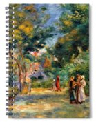 Figures In A Garden Spiral Notebook