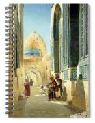 Figures In A Street Before A Mosque Spiral Notebook