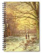 Figures On A Path Before A Village In Winter Spiral Notebook