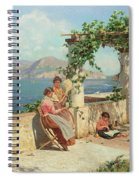 Figures On A Terrace In Capri  Spiral Notebook
