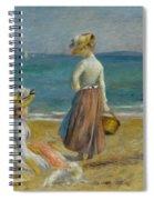 Figures On The Beach, 1890 Spiral Notebook