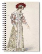 Figurine In Medieval Dress, Spiral Notebook