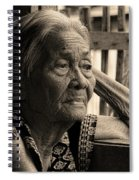 Filipino Lola Image Number 33 In Black And White Sepia Spiral Notebook