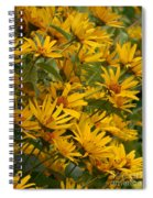 Filled With Sunflowers Vertical Spiral Notebook