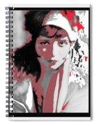 Film Homage Collage Eugene Robert Richee Photo Clara Bow 1 Circa 1927-2013 Spiral Notebook