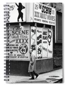 Film Homage Hard Core 1979 Porn Theater The Combat Zone Boston Massachusetts 197 Spiral Notebook
