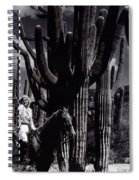 Film Homage Jean Harlow Bombshell 1933 Saguaro National Monument Tucson  Arizona  Duo-tone 2008 Spiral Notebook