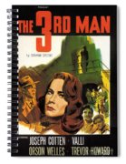 Film Noir Poster  The Third Man Spiral Notebook