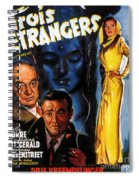 Film Noir Poster Three Strangers Spiral Notebook