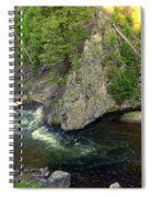 Fin On The Firehole Spiral Notebook