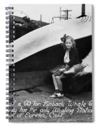 Fin Whale 69 Feet Long At Fields Landing Whaling Station Circa 1945 Spiral Notebook