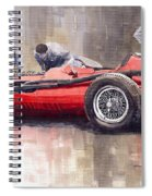 Final Check Before The Start Maserati 250 F 1957 Spiral Notebook