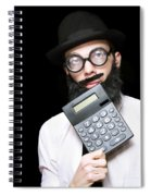Financial And Accounting Genius With Calculator Spiral Notebook