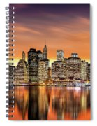 Financial District Sunset Spiral Notebook