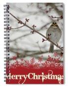 Finch Christmas Spiral Notebook