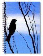 Finch Silhouette 1 Spiral Notebook