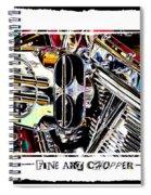 Fine Art Chopper II Spiral Notebook