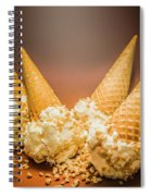 Fine Art Ice Cream Cone Spill Spiral Notebook