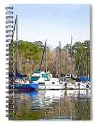 Fine Day To Sail - Illustration Style  Spiral Notebook