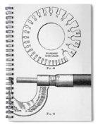 Fine Measurement Gauges  Spiral Notebook