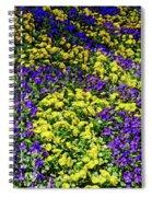 Fine Wine Cafe Colorful Garden Spiral Notebook