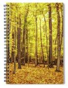 Fine Wine Cafe Golden Woods Spiral Notebook