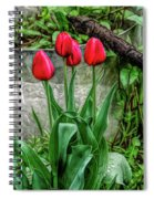 Fine Wine Cafe Red Tulips Spiral Notebook