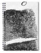 Fingerprints Of Vincenzo Peruggia, Mona Spiral Notebook
