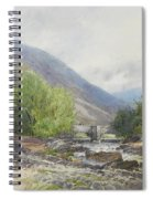 Fingle Bridge On The Teign Spiral Notebook