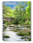 Fingle Bridge - P4a16007 Spiral Notebook