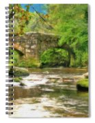 Fingle Bridge - P4a16013 Spiral Notebook
