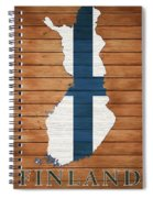 Finland Rustic Map On Wood Spiral Notebook