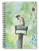 Finnish Dotted Cheek Sparrow Spiral Notebook