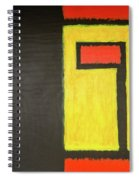 Fire And Gold Spiral Notebook