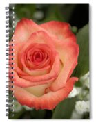 Fire And Ice Rose Spiral Notebook