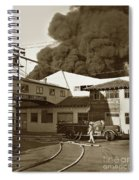 Fire At Cannery Row, Custom House Packing Company Sea Beach Cannery 1953 Spiral Notebook