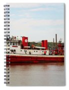 Fire Boat Spiral Notebook