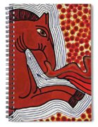 Fire Breathing Horse Spiral Notebook