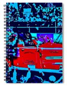 Fire Engine Red In Blue Spiral Notebook