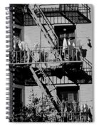 Fire Escape With Clothes Hung To Dry Spiral Notebook